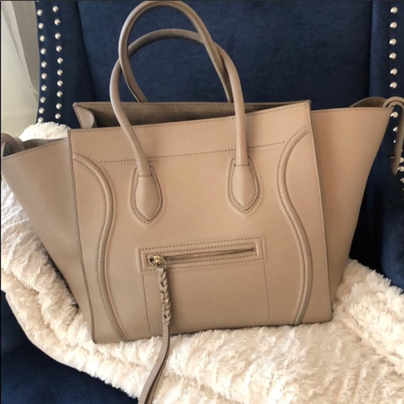 Celine Handbags - Phantom preowned Celine in taupe. 5de8ed8a0f3ae